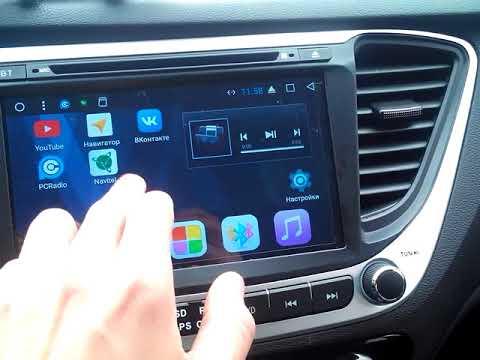 Краткий обзор Android 7 Hyundai Solaris 2017
