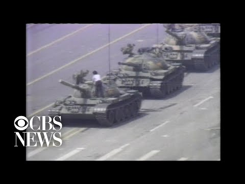 Tiananmen Square 1989 - Tank Man - FULL Clip with sound