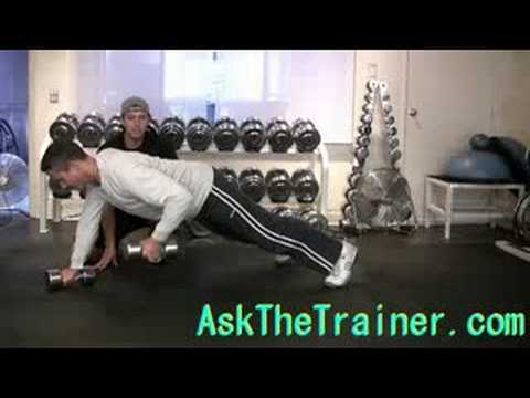 Dumbbell Push-up Rows - Toning Core Chest Arms Exercise