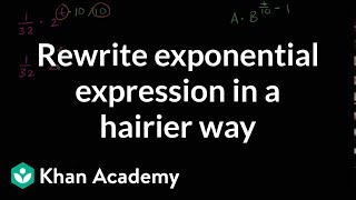 Rewriting An Exponential Expression In A Hairier Way