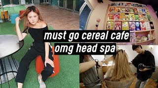 """Cutest Cereal Cafe, Head Spa at """"Overmars"""", Spa Themed Cafe in Korea 