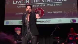 Adam Lambert - Shady - Live In The Vineyard - 11/3/12