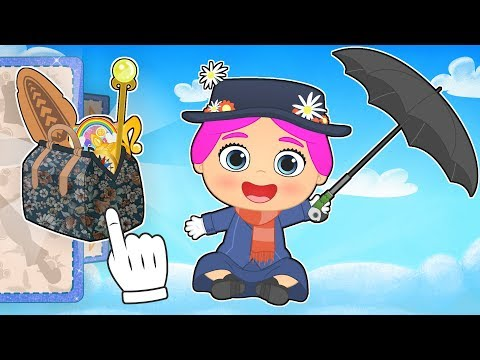 👜 BEBE LILY 🌂 Disfraz de Mary Poppins | Dibujos animados para niños