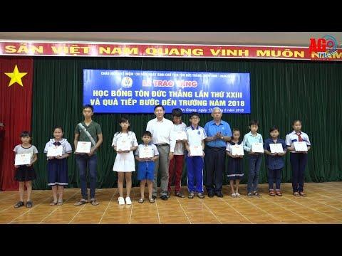 """Trao học bổng Tôn Đức Thắng lần thứ 23 và tặng quà """"Tiếp bước đến trường"""" cho con đoàn viên, CNVCLĐ"""
