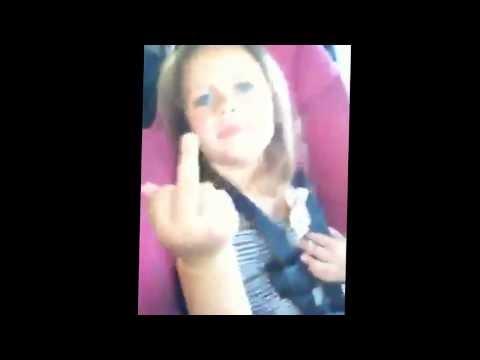 Little girl middle finger klj