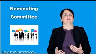 A non-profit organization should have a nominating committee
