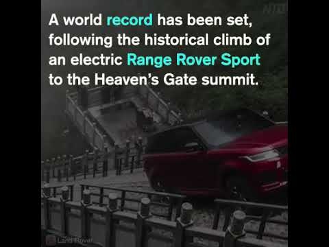 New Range Rover Sport climbs deadly 999 steps to China's Heaven's Gate 🚘⛰😲 [wait till the end...]