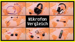 unterschiedliche Mikro-Lösungen im Vergleich | In-Ear/Over-Ear Headset, Wireless, Lavalier...