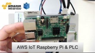 Amazon Web Services (AWS) IoT MQTT Node-RED Raspberry Pi & PLC