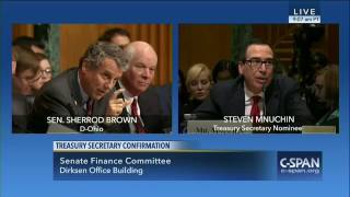 "Treasury Secretary Nominee Steven Mnuchin: ""I"