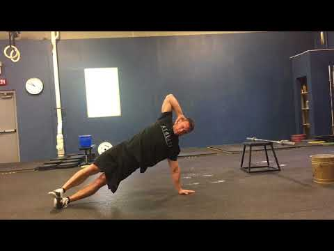 Side Plank with Torso Rotations