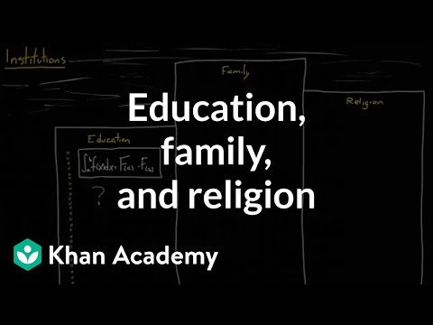 Social institutions - education, family, and religion (video) | Khan