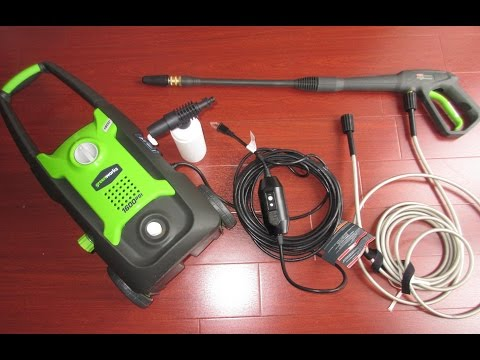 Review..  Greenworks 1600 psi Electric Pressure Washer