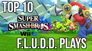 Top 10 Most Savage F.L.U.D.D. Plays - Smash 4 / Smash Bros Wii U