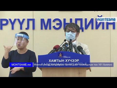 Монгол улсад халдварын батлагдсан тохиолдлын тоо 161 боллоо