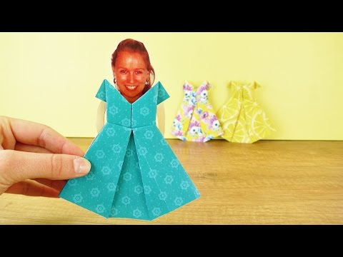 Origami Kleid basteln - Kindgerechte Bastelanleitung einfach erklärt