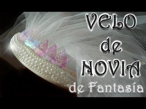 Cómo hacer un VELO de NOVIA de FANTASÍA disfraces vestuarios utilería carnaval TUTORIAL Inerya viris