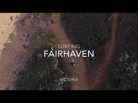 Aerial and surf footage from Fairhaven