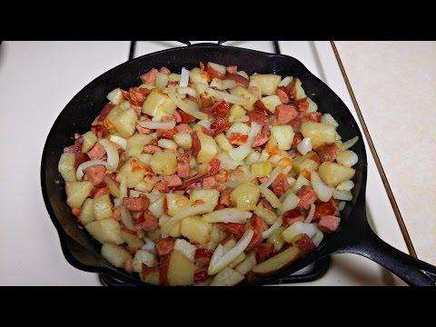 Video Cast Iron Cooking Kielbasa And Potatoes Recipe