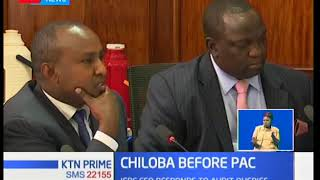 Ezra Chiloba today explained to the PAC the circumstances that led the Commission to release 150 BVR