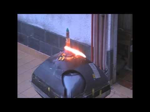 Cortar un tubo de rayos catodicos  CRT cutting