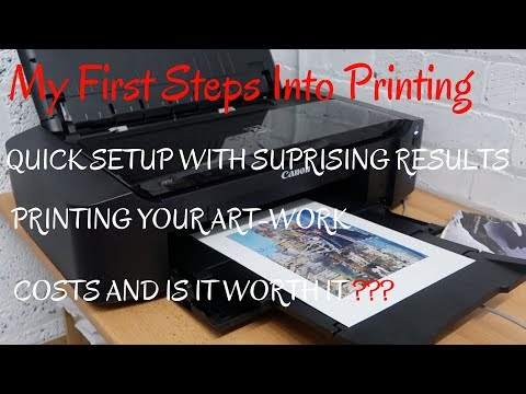 New Printer Canon Pixma IP8750 Set-Up Total Cost - PRINTING ART-WORK Will I Get My Money Back!!