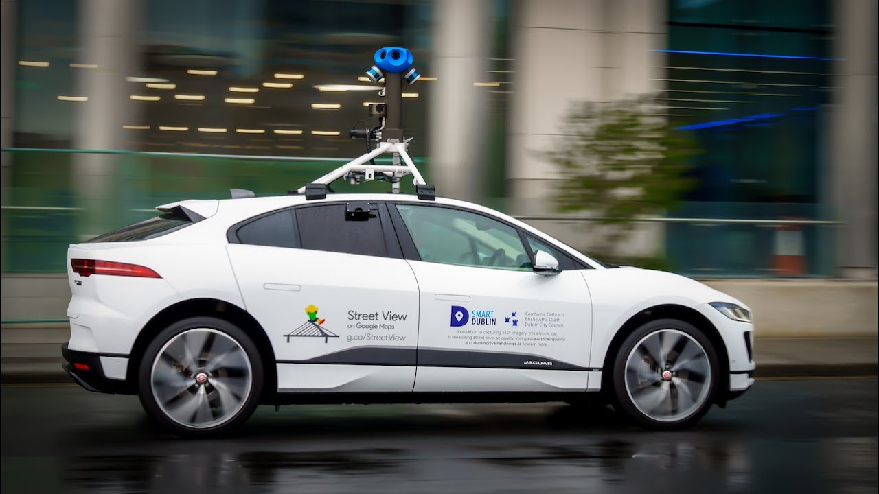 Google's electric Street View car takes to the streets of Dublin to measure air quality across the city.