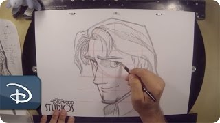 How-To Draw Flynn Rider From 'Tangled' | Disney's Hollywood Studios