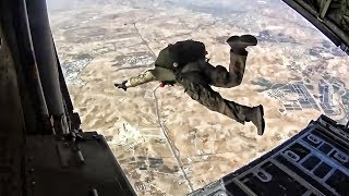 USMC Spec Ops Military HALO Jump • Aerial View Of Wadi Rum