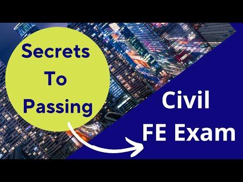 Secrets to Passing the Civil FE Exam - YouTube