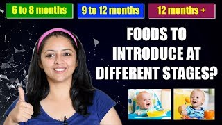 What Food Did We Introduce To Our Baby At Different Stages?