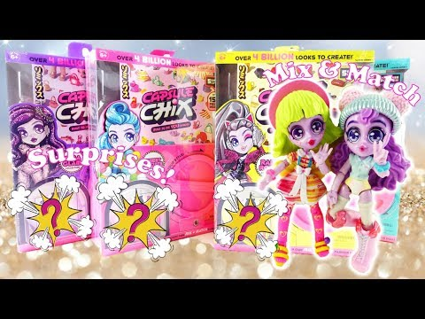 All 4 Capsule Chix Collections - Surprise Doll Vending Machine