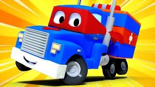 Video về xe tải dành cho thiếu nhi - XE CỨU THƯƠNG - Siêu xe tải Carl 🚚⍟ những bộ phim hoạt hình về