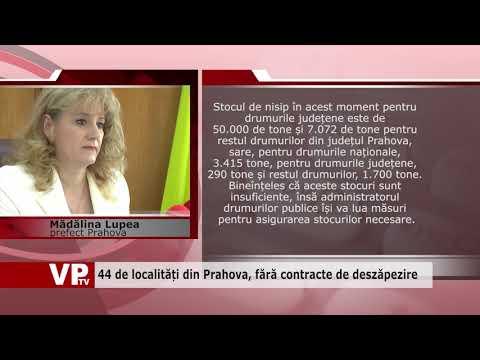44 de localități din Prahova, fără contracte de deszăpezire