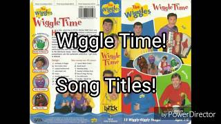 The Wiggles - Song Titles From Wiggle Time! But It's 3 Normal Speeds Together