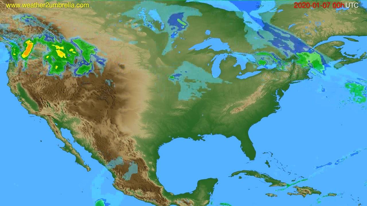 Radar forecast USA & Canada // modelrun: 12h UTC 2020-01-06