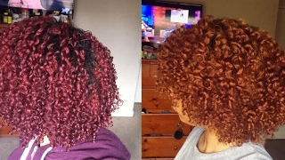 REMOVING PERMANENT RED HAIR DYE FROM MY NATURAL HAIR W/ NO DAMAGE OR BLEACH (COLOR OOPS)