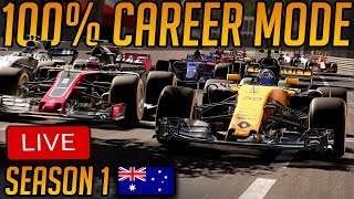 F1 2017 - 100% Career - Round 1 Australia (Season 1)