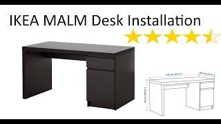 IKEA Malm Desk Installation