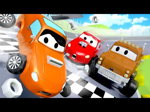 Tom il Carro Attrezzi - L' Incidente alla Gara - Car City 🚗 Cartone animato per i bambini