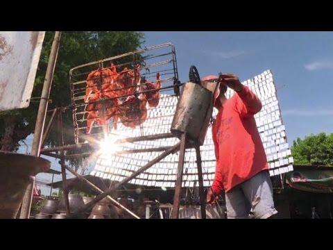 In Thailandia il pollo si griglia con l'energia solare