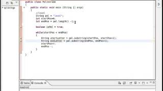 Java String Class Palindrome Example