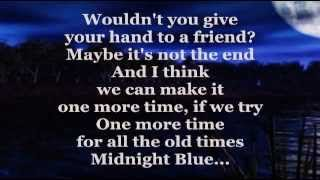 MIDNIGHT BLUE (Lyrics) - MELISSA MANCHESTER