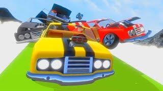 Крутые гонки с препятствиями - Мультик игра про машины Crash Wheels
