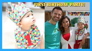 Liams First Birthday Party! | The Very Hungry Caterpillar Birthday Theme | AprilJustinTV