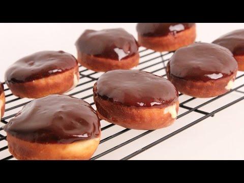Homemade Boston Cream Donuts Recipe – Laura Vitale – Laura in the Kitchen Episode 867