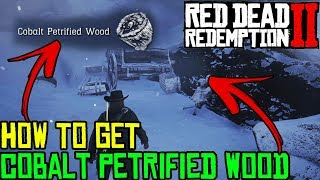 HOW TO GET COBALT PETRIFIED WOOD IN RED DEAD REDEMPTION 2 - RDR 2 COBALT PETRIFIED WOOD LOCATION