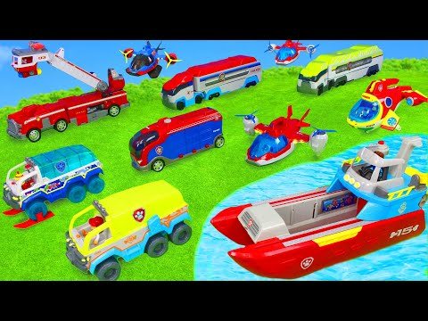 Paw Patrol Unboxing: Ultimate Rescue Fire Truck & Ryder's Fireman Pup Toy Vehicles for Kids
