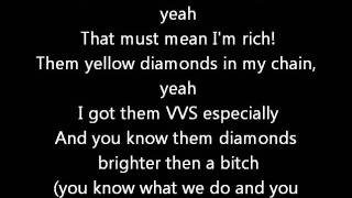Chris Brown ft Big sean - Glitter  (Lyrics on screen) karaoke In My Zone 2