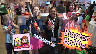 KidToyTesters & babyteeth4 Blaster Showdown: NERF Rebelle, Zing toys, K-Force blasters